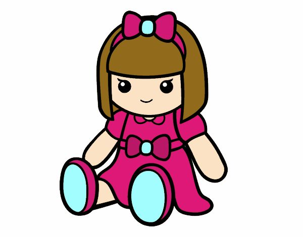 cute doll coloring